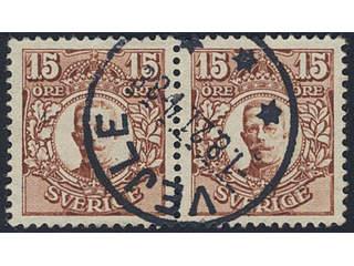 Sweden. Facit 84. DENMARK. Danish town cancellation VEJLE 1.8.21 on Swedish stamps 2x15 …