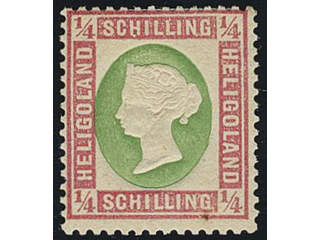 Germany Heligoland. Michel 8a ★ , ¼ Skilling. Rubber stain.