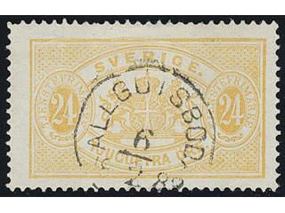 Sweden. Facit Tj20, H county. ALLGUTSBODA 6.2.1883.