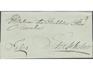 Sweden. C county. UPSALA 25.1.1835, arc postmark. Type 3 on cover sent to Stockholm. …
