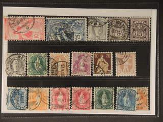Switzerland. Used 1900–08. All different, e.g. Mi 72 III, 73, 77, 83, 87, 91C, 92, 94, …