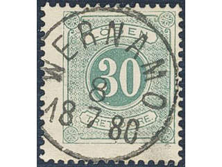 Sweden. Postage due Facit L18a used , 30 öre deep blue-green, perf 13. EXCELLENT …