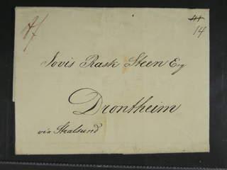 "Norway. Prephilately. Letter dated ""Hamburg 22 may 1827"" sent from KS&NPC HAMBURG …"