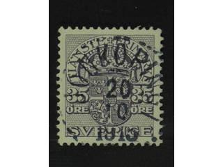 Sweden. Official Facit Tj53 used , 35 öre violet, watermark wavy lines. EXCELLENT …