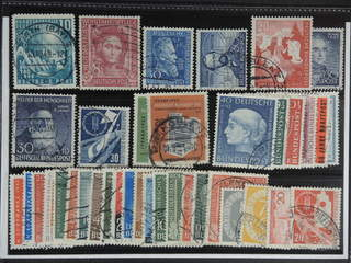 Germany GFR (BRD). Used 1949–55. All different, e.g. Mi 111, 117, 147, 150, 154, 159, …
