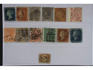 Britain. Used 1841-1870. All different, e.g. Mi 4, 8B, 14, 19-20, 23-25, 28, 33,. Mostly …