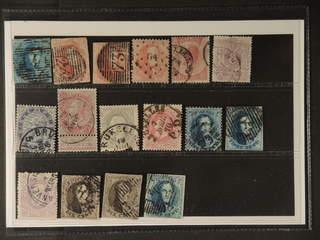 Belgium. Used 1849–1893. All different, e.g. Mi 2, 5B, 9 II, 13, 17, 21, 26, 33, 37, 58. …