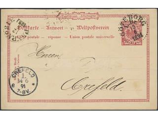 Germany Reich. Postal stationeryPostal stationery postal card, reply part 10 pf sent …