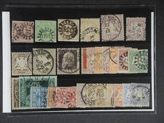 Germany Bavaria. Used 1850–1911. All different, e.g. Mi 3, 5, 11, 29y, 31, 45-46, 69, 85 …