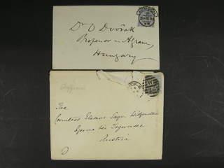 Britain. Michel 59 cover , 1881 Queen Victoria wmk Imperial Crown 2½ d blue, watermark …