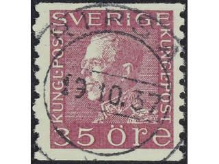 Sweden. Facit 187 used , 35 öre violet-carmine. EXCELLENT cancellation KISA 19.10.37.