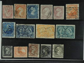 Canada. Used 1859-1897. All different, e.g. Mi 10, 20, 23-24, 31, 36-37, 42. Mostly good …