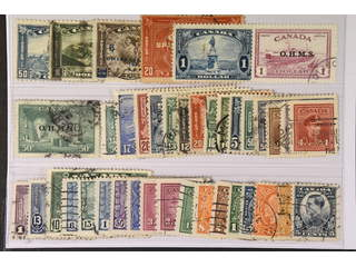 Canada. Used 1930–51. All different, e.g. Mi 154-55, 170-71, 194, Officials 9, 16. …