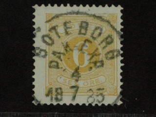 Sweden. Postage due Facit L14 used , 6 öre gul, tandn. 13. Prakt-/LYX-stämplat GÖTEBORG …