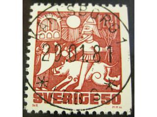 Sweden. Facit 1154B used , 1981 Nordic Mythology 50 öre red-carmine. EXCELLENT …