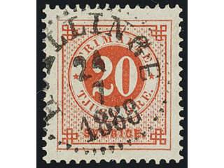 Sweden. Facit 46, M county. HVELLINGE 24.7.1888.