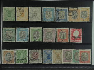 Iceland. Used 1876–1936. Officials, all different, e.g. Tj 8, 10, 11, 33-41, 52-53, 56, …