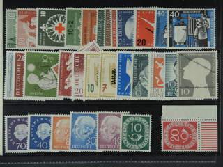 Germany GFR (BRD). ★★ 1951-59. All different, e.g. Mi 153-54, 164, 171-72, 200-03, 208, …