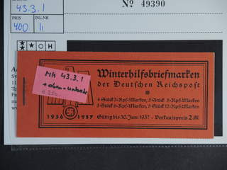 Germany Reich. Booklet Michel MH43.3.1 ★★ , 1936 Modern buildings 2 RM. EUR250