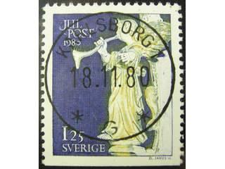 Sweden. Facit 1150 used , 1980 Christmas 1,25 Kr. EXCELLENT cancellation KARLSBORG 1 …