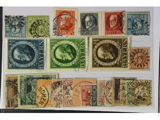 Germany Bavaria. Used 1849–1916. All different, e.g. Mi 2 I, 5, 106-109 IIA, 110B, 114B. …