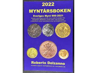 'Myntårsboken 2022: Sveriges Mynt 995–2021'. Robert Delzanno, 512 pages, 650 grams, 99 SEK + postage