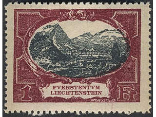 Liechtenstein. Michel 53–60 ★ , 1921 Different designs SET (8). EUR 1000 if ★★.