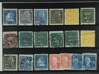 Sweden. Used 1920-34. Small coil stamps.All different, e.g. F 152Acx, 153, 154bz, 155bz, …