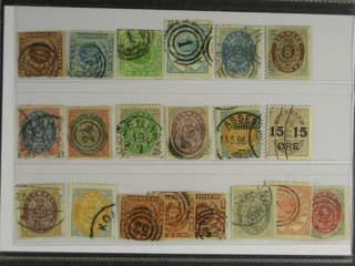 Denmark. Used 1851–1904. All different, e.g. F 2-3, 5, 11, 20, 23, 30, 34-37, 62v2. …