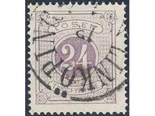 Sweden. Postage due Facit L7a used , 24 öre red-violet, perf 14. Very fine copy …