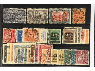 Germany Reich. Used 1902–23. All different, e.g. Mi 80, 96-97, 172, 186(echtstamp), …