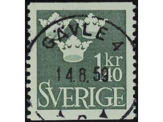 Sweden. Facit 300 used , 1948 Three Crowns 1.40 Kr dark green. EXCELLENT cancellation …