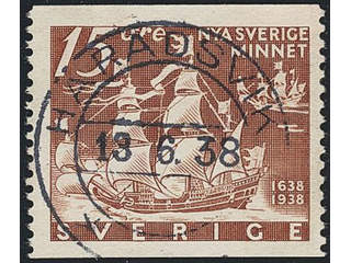 Sweden. Facit 262A, D county. HÄRADSVIK 13.6.38. EXCELLENT cancellation. Postal:175:-