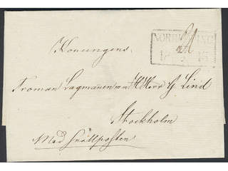 """Sweden. General mail. Cover with notation """"med Snällposten"""" (express mail, P: +600:-). …"""