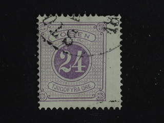 Sweden. Postage due Facit L7a used , 24 öre red-violet, perf 14. A few short perfs. …