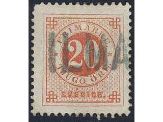Sweden. Facit 46. FINLAND. Finnish single line cancellation ILMA on Swedish stamp 20 öre …