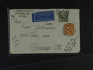 Sweden. Air mail cover Facit 168, 281 , 40 öre + 1 kr on air mail cover sent from …