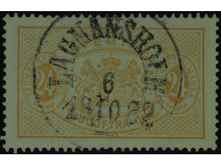 Sweden. Official Facit Tj20 used , 24 öre yellow, perf 13. EXCELLENT cancellation …