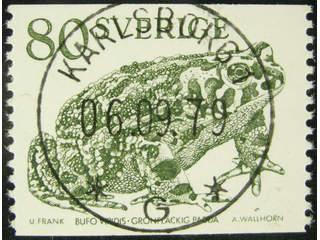 Sweden. Facit 1094 used , 1979 Animals 80 öre olive-green. EXCELLENT cancellation …