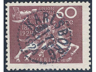 Sweden. Facit 221 used , 60 öre red-lilac. Superb cancellation KARLSBORG 17.11.1924. …