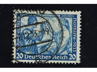Germany Reich. Michel 505A used , 1933 Charity - Opera 20 + 10 Rpf greenish blue perf 14 …