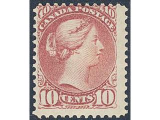 Canada. Michel 31A ★ , 1870 10c Victoria perf 12. Off-centered and slight gum crease, …