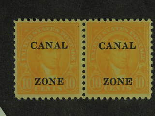 Panama Canal. ★★/★/⊙. Small lot 8 stamps (7 different and 10c overprint in xx pair) on …