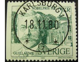 Sweden. Facit 1148 used , 1980 Nobel prize 1920 2 Kr green. EXCELLENT cancellation …