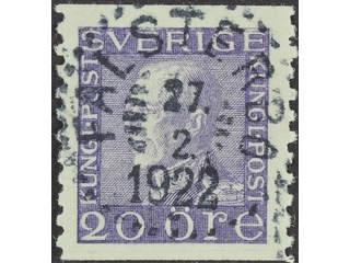 Sweden. Facit 179A used , 20 öre violet vertical perf. EXCELLENT cancellation FALSTERBO …
