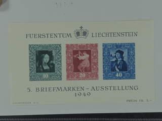Liechtenstein. Michel 278–80 ★★ , 1949 Vaduz Stamp Exhibition souvenir sheet 5. EUR170