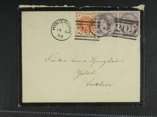 Britain. Michel 65, 86 cover , ½+2x1 p on cover sent from KINGHORN 4.JA.98 to Sweden. …