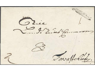 Sweden. A county. STOCKHOLM, ribbon postmark. Type 3 on cover (tear) sent to Tavastehus. …