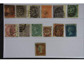 Britain. Used 1841-1870. All different, e.g. Mi 8B, 14, 20, 24-25, 27-29, 33, 37. Mostly …