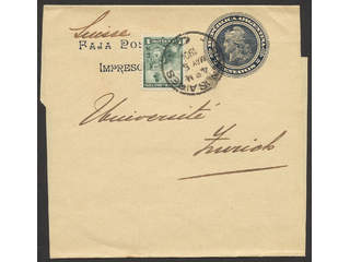 Argentina. Michel 100 cover , 1 C on postal stationery newspaper banner 2 C, sent from …